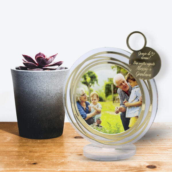 portafoto plexiglass, regalo per la festa dei nonni
