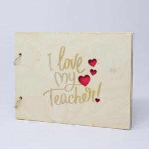 album regalo per maestra- album-ricordi maestra i love my teacher