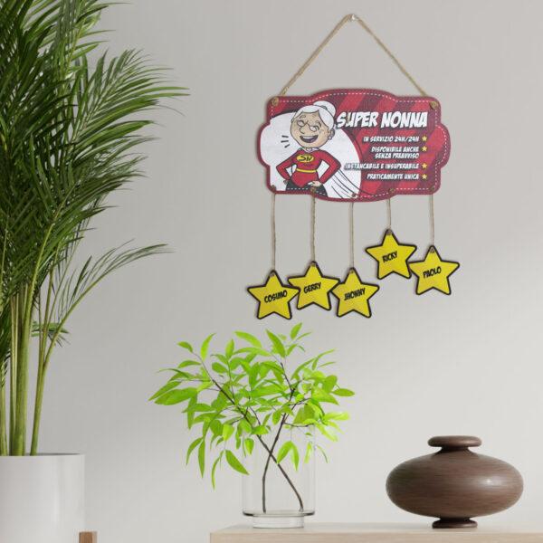 Targhetta super nonni, idea regalo per la Festa dei Nonni