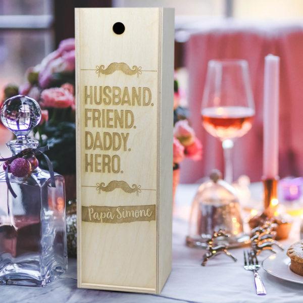 cassetta in legno porta vino