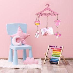Babyapp Fiocco Nascita Bambina Colorato Personalizzabile - Idea Regalo Bambina