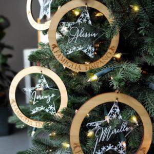 Balls Xmas Famiglia - Palline di Natale in legno personalizzabili