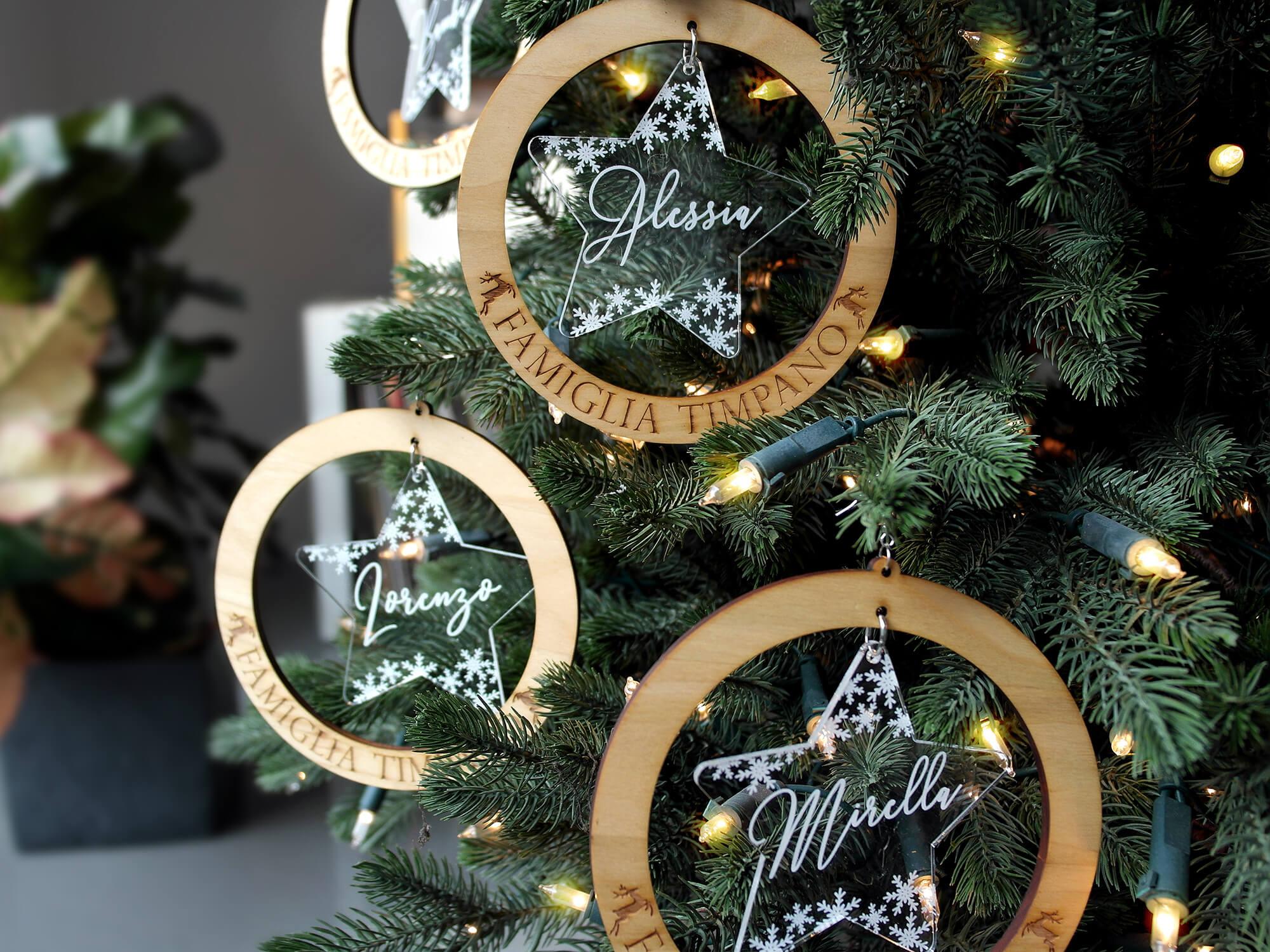 Immagini Palline Natalizie.Palline Di Natale In Legno Betulla E Plex B Paper