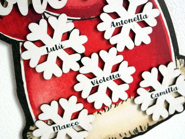 Fuoriporta Babbo Natale Buone Feste - Idea Regalo per Natale Personalizzabile