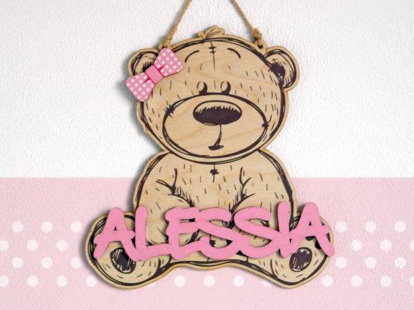 Fuori Porta Bear Personalizzabile – Idea Regalo Bambina