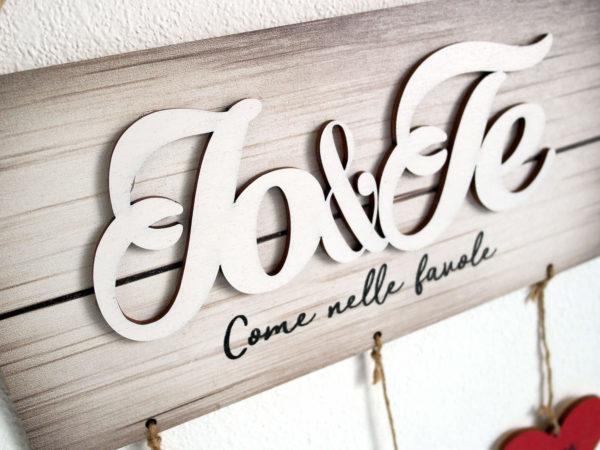 Targhetta Io&Te - Ideale come Regalo per Famiglia o San Valentino
