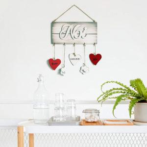 targhetta in legno, Targhetta Noi - Ideale come Regalo per Famiglia o San Valentino