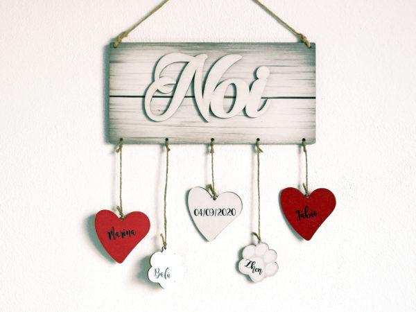 Targhetta Noi - Ideale come Regalo per Famiglia o San Valentino