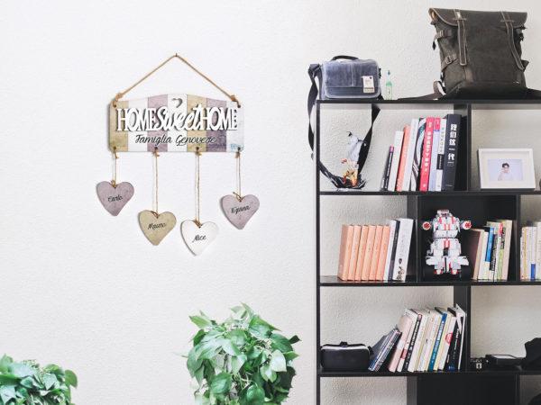 Targhetta in legno personalizzabile con scritta Home Sweet Home