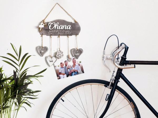 targhette con nome scritta ohana