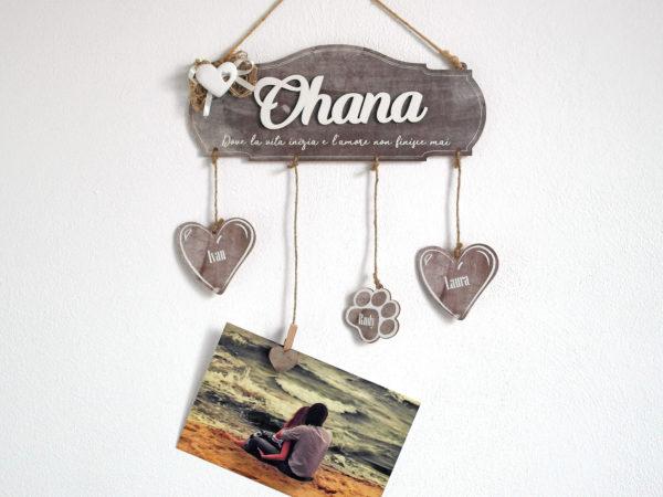 targa in legno, decorazione in legno per famiglie