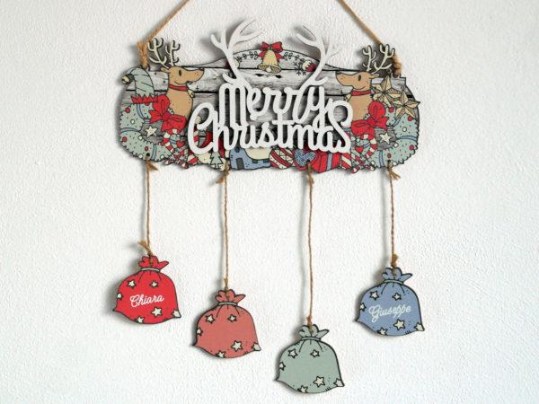 Targhetta Merry Christmas - Idea Regalo Natale per Famiglia