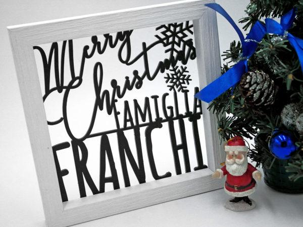 quadretti personalizzati con nome Idea Regalo Natale