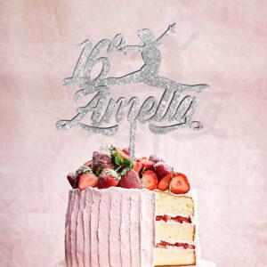 cake topper ragazze, sopra torta personalizzato nome bambina