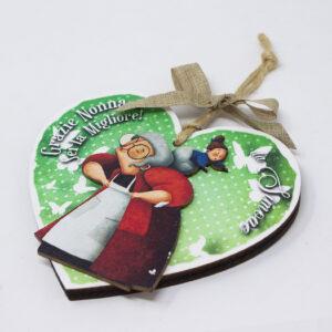 targhetta cuore nonna, regalo per la nonna