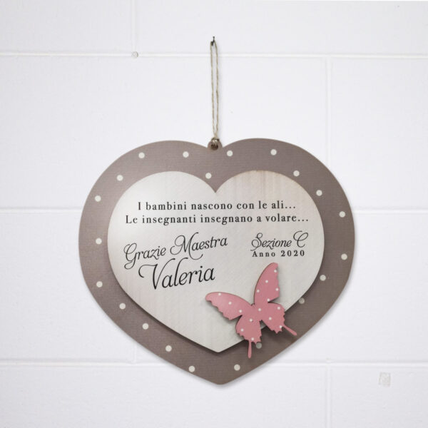 targhetta butterfly heart