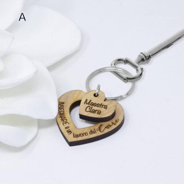 portachiavi in legno personalizzati