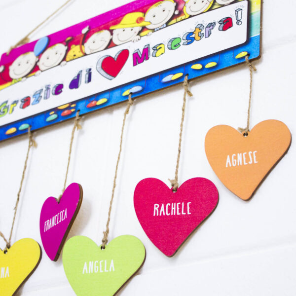 pendente personalizzato targa in legno