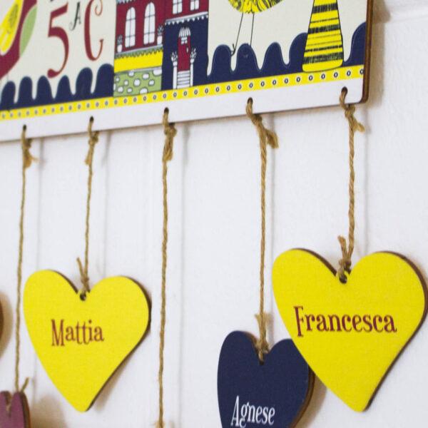 targhe legno nomi bambini